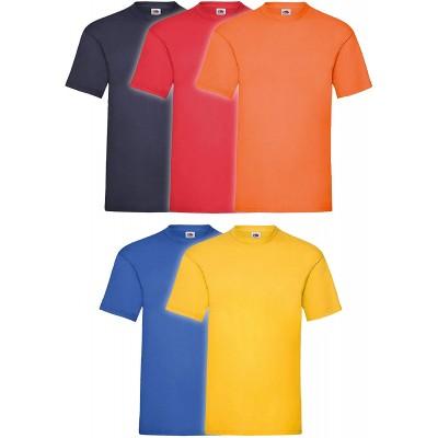 Fruit of the Loom 5er Pack T-Shirts Screen Star Full Cut Farbset I Bekleidung