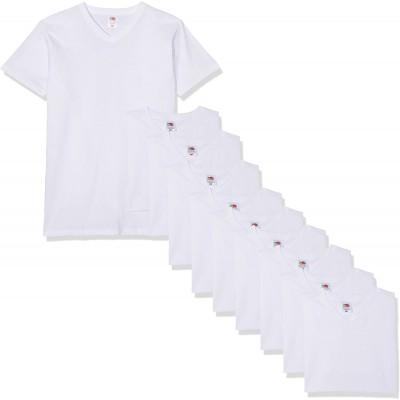 Fruit of the Loom Herren V-Neck Valueweight T-Shirt 10er Pack Bekleidung