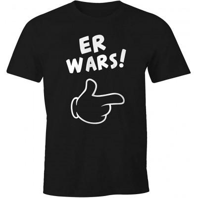 MoonWorks Herren T-Shirt Er Wars Spruch Comic Hand Fun-Shirt Bekleidung
