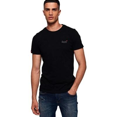 Superdry Herren ORANGE Label Vintage EMB Tee T-Shirt Bekleidung