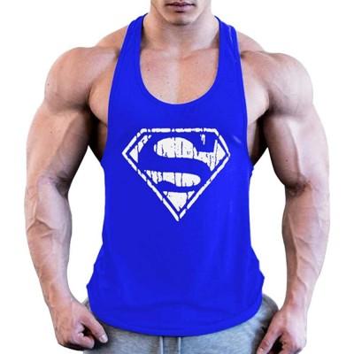 LLD Superman Bodybuilding Stringer Tank Tops Männer Turnhallen Stringer Shirt Top Männer Turnhallen Kleidung Super Hero Baumwollweste Bildfarbe XXL Bekleidung