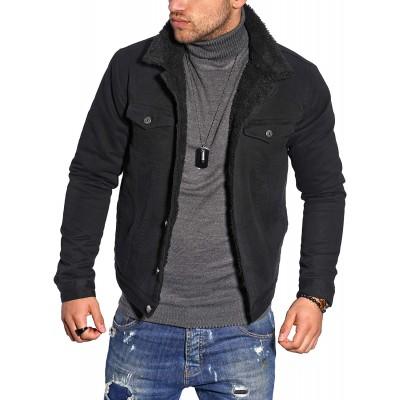 behype. Herren Jacke Gefüttert Übergangs-Jacke Trucker-Jacke Jeans-Jacke Cord-Jacke 1008 Bekleidung