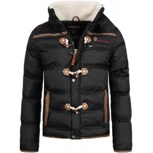 Geographical Norway Herren Winter Jacke mit Teddyfellkragen Bekleidung