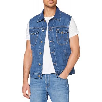 Wrangler Herren Denim Vest Jeansjacke Bekleidung