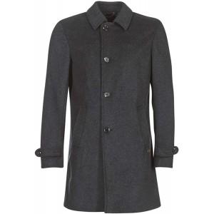 Scotch & Soda Herren Long Zip-Up Coat Mantel Grau Graphite Melange 0810 Large Bekleidung